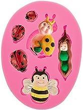 DF-ES Abeja caracol mariquita a su vez pastel de az/úcar adorno de chocolate molde de silicona familiar familiar rosa art/ículo cotidiano