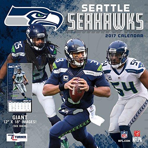 "Turner Licensing Sport 2017 Seattle Seahawks Team Wall Calendar, 12""X12"" (17998011926)"