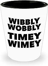 Wibbly Wobbly Timey Wimey Shot Glass - One Ceramic 1.5oz Toothpick Holder Pill Cup