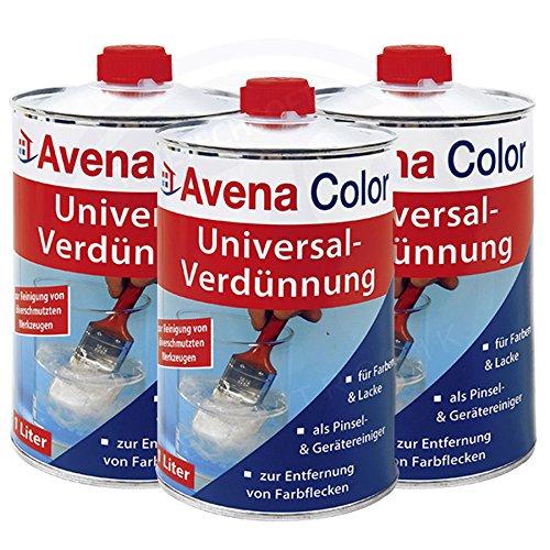 3 x Avena Color Universal-Verdünnung 1 Liter
