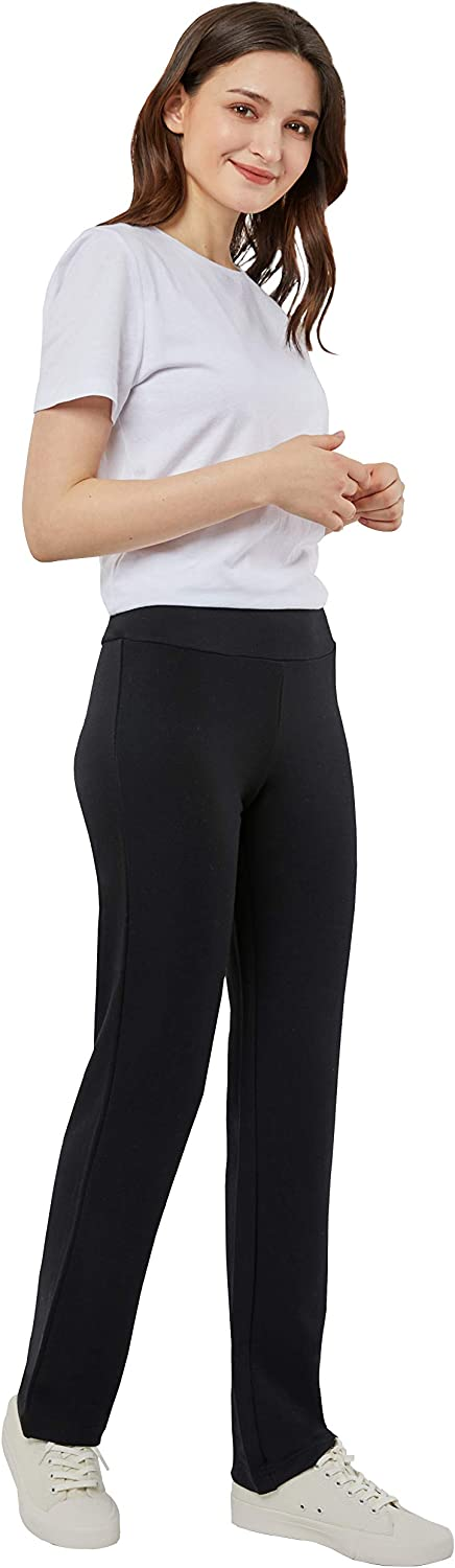 May You Be Women's Comfy Casual Lounge Straight Leg Pull-on Pants