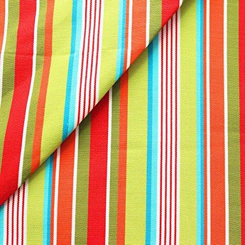 Unbekannt Stoff Kontor Liegestuhlstoff Outdoorstoff Meterware Breite 45 cm Streifen Mix Multicolor