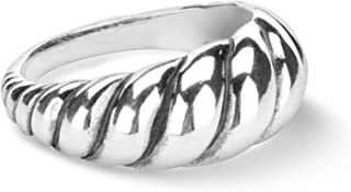 Carolyn Pollack Sterling Silver Sizes 5 to 10 Smooth Rope Ring