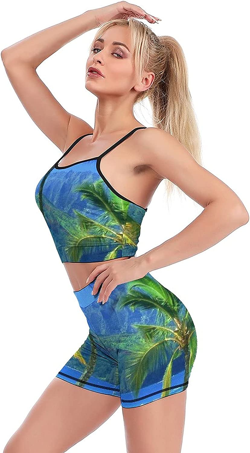 Yoga Workout Sets for Manufacturer direct delivery SportTa Shorts Max 83% OFF Coconut-Tree Women