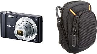 Sony DSC-W810 - Cámara compacta de 20.1 Mp (pantalla de 2.7 zoom óptico 6x estabilizador digital) negro + AmazonBasics - Funda para cámaras compactas (tamaño mediano)