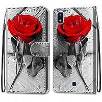 Laybomo LG K20 (2019) ケース カバー 手帳型, [カードスロット]および[キックスタンド]付きの磁気閉鎖完全保護設計ウォレットフリップ 財布型カバー対応 LG K20 (2019)電話ケース, 塗る 4