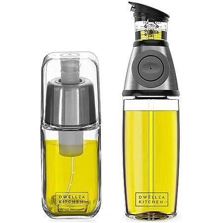 UPKOCH Pulverizador de Aceite de Oliva Dispensadores de Aceite de Oliva de Acero Inoxidable Botella de Spray de Vinagre Port/átil para Ensalada Barbacoa Fre/ír Asar a La Parrilla Cocina Hornear
