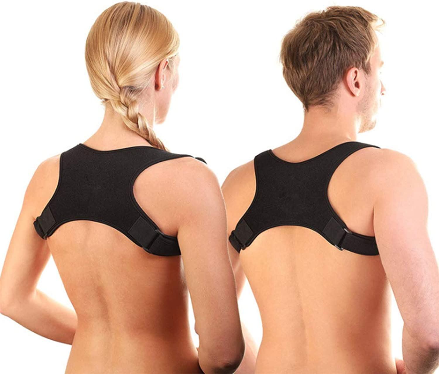 Posture Corrector for Men and Women  Comfortable Upper Back Brace Clavicle Support Device for Thoracic Kyphosis and Shoulder  Neck Pain Relief,L