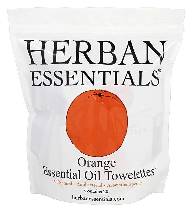 ぼんやりした理想的には侵入ハーバンエッセンシャルズ HERBAN ESSENTIALS アロマタオル オレンジ 20包