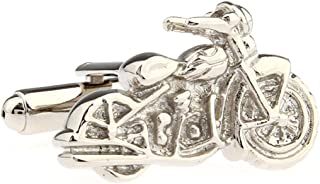 Motorcycle Street Bike Cruiser Pair Cufflinks in a Presentation Gift Box & Polishing Cloth