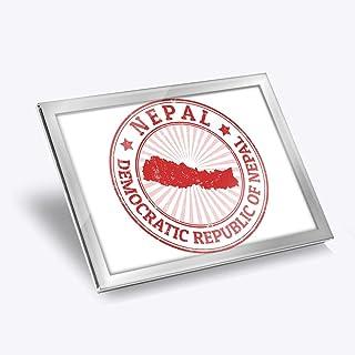 Set de table en verre argenté 20 x 25 cm – République démocratique du Népal Carte de Voyage lieu de travail/Table de Salle...