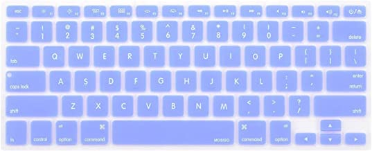 MOSISO Silicone Keyboard Cover Compatible with MacBook Pro 13/15 Inch (with/Without Retina Display, 2015 or Older Version),Older MacBook Air 13 Inch (A1466 / A1369, Release 2010-2017), Serenity Blue