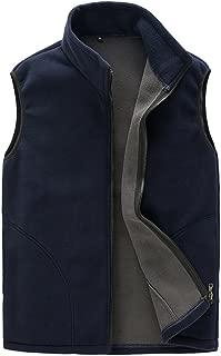 Mens Thermal Fleece Vest, Full Zip Gilet Sleeveless Casual Bodywarmer Waistcoat Outdoor Fleece Jacket