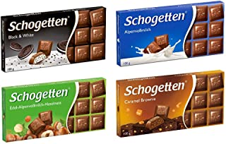 Schogetten German Chocolate Variety Pack (Bundle of 4)