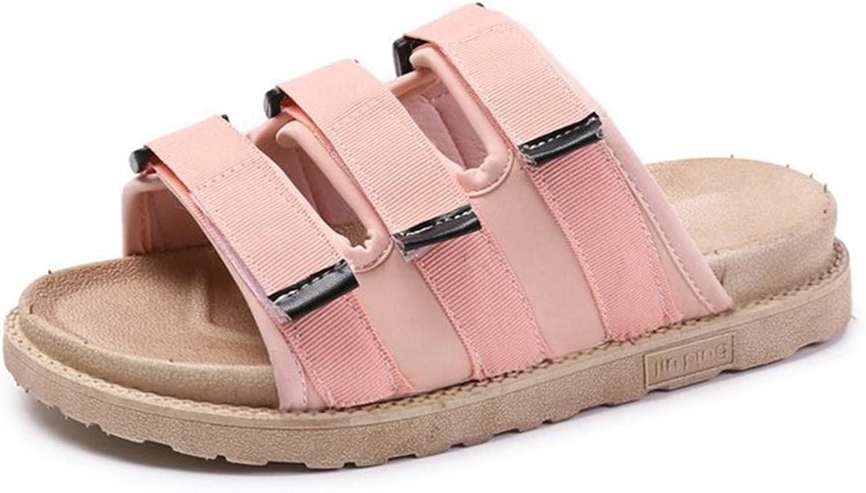 T-JULY Womens Ladies Fashion Flats Slide Sandals for Women Dressy Velcro Platform Slippers Open Toe Slip On Summer Sandals