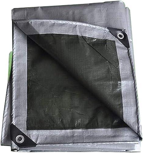 Qing MEI Tissu Anti-Pluie épais en Plastique Imperméable Prougeection Solaire Extérieure Bache De Prougeection Solaire Bache De Prougeection Bache gris A+ (Taille   6X8M)
