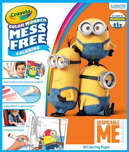 Crayola Color Wonder Despicable Me Coloring Pages, Mess Free Coloring, Gift for Kids, Age 3, 4, 5, 6, Model Number: 75-2499