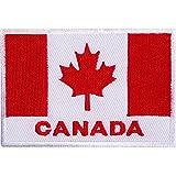 Aufnäher mit Kanada-Flagge, bestickt, zum Aufnähen oder Aufbügeln