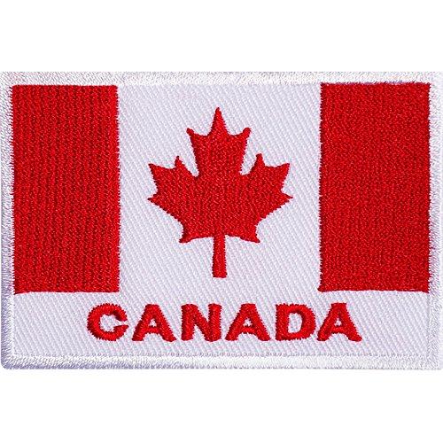 Bandera Canadá parche hierro Sew bordado canadiense