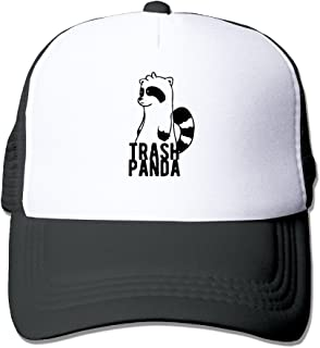 d353cf43e56 HAHUHU Mesh Hat Trash Panda Cartoon Cute Strapback Hats Unisex Cap