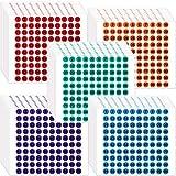 50 Hojas Pegatinas Adhesivas de Inventario/ Almacenamiento Pegatinas de Números de Vinilos de 1 a 100 Consecutivos Etiquetas Redondas Pequeñas para Interior Exterior (Colores Diversos)