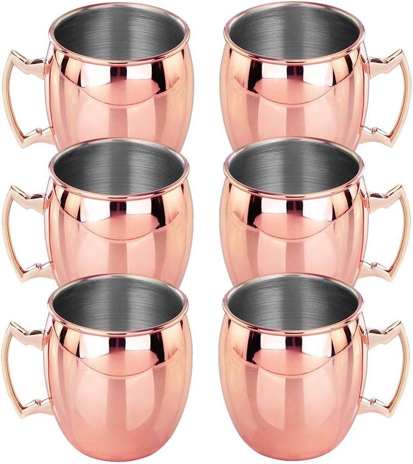 Vasos de cóctel de Acero Inoxidable Moscow Mule, sin ...