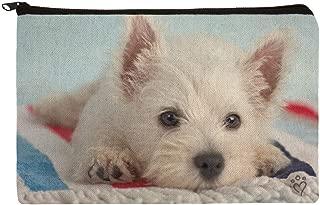 West Highland Terrier Westie Puppy Dog Beach Towel Makeup Cosmetic Bag Organizer Pouch