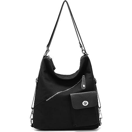 Suweir rucksacktasche Damen 2 in 1 Handtasche Schultertasche Rucksack Taschen Canvas groß für Reise Outdoor Arbeit Alltag Büro Schule Ausflug Einkauf