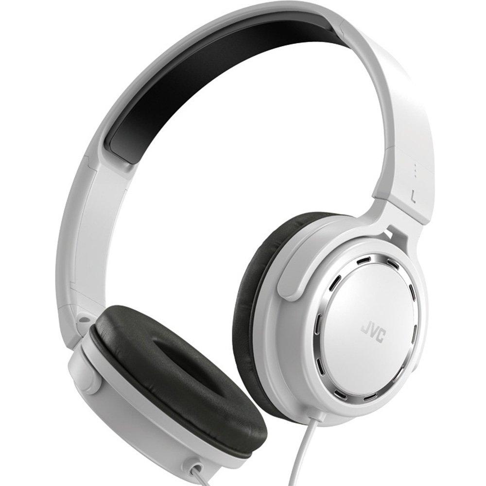 JVC 杰伟世 HA-S520-W 白菜神器500升级版 便携DJ折叠头戴式耳机 重低音耳机 白色