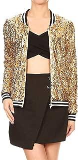 Gorgeous Coat,KIKOY Women Fashion Sequin Long Sleeve Front Zip Jacket Coat Sale