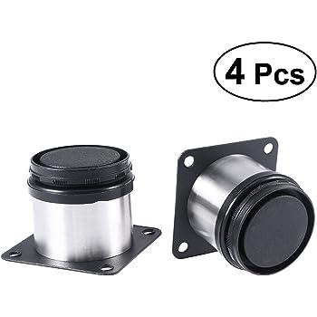 Lote de 10 Juegos Patas Regulables para Muebles de Cocina o ba/ño H 150mm EMUCA Pack de 4 pies Negros con Accesorios de Montaje