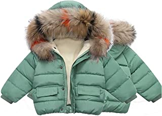 Surgoal Chaqueta Acolchada Invierno para Niños y Niñas Espesar Abrigos de Abajo con Capucha Traje de Nieve Cuello de Piel ...