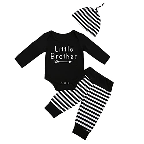 d37f8de6bd00 Little Brother New Crew Clothing Set Newborn Toddler Baby Boy Long Sleeve  Romper Tops Stripe Pants