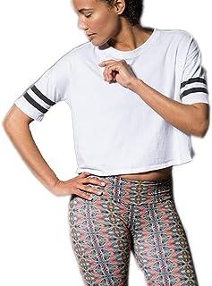 تي شيرت نسائي رياضي قصير كاجوال سادة برقبة دائرية للسيدات من PRAPRA Women's Gym Sports Tee قصير الأكمام بلوزة قصيرة قصيرة