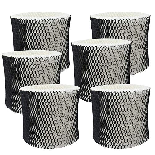 PIGUOAT 6 Packs Filters for HWF64 Humidifier, Replacement Humidifier Wick Filters Compatible with Holmes Sunbeam Bionaire Humidifier Model HM1730 HM1745 HM1746 HM1750 HM2200 SCM1745 BWF64CS- Filter B