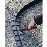 Voliges Tcourb PVC gris anthracite H : 3 cm/L : 2 mètres