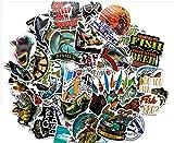 ZNMSB 65 Pegatinas de Graffiti de Dibujos Animados de Pesca, Pegatinas de Coche Impermeables Personalizadas, Pegatinas...