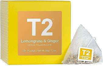 T2 B140AE025 Tea Lemongrass & Ginger Tea, Herbal Teabags, 25 count