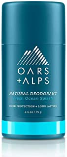 Oars + Alps Natural Deodorant For Men and Women, Aluminum-Free, Alcohol-Free, Long-Lasting