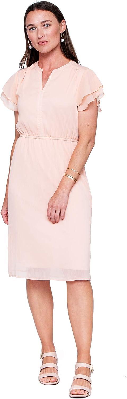 Downeast Women's Flutter Sleeve Casual Dress
