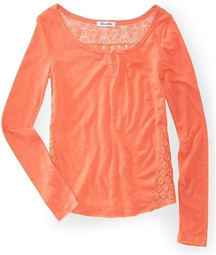 AEROPOSTALE Womens Lace Back Embellished T-Shirt