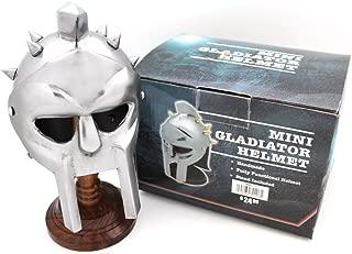Medieval Warrior Brand 18 Gauge Steel Miniature Display Helmet w/Helmet Stand