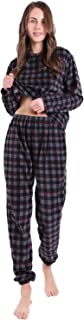 KEMUSI Pajama Set for Womens with Pullover Long Sleeve,Elastic Waistband,Full Length,Soft Flannel Lightweight PJs