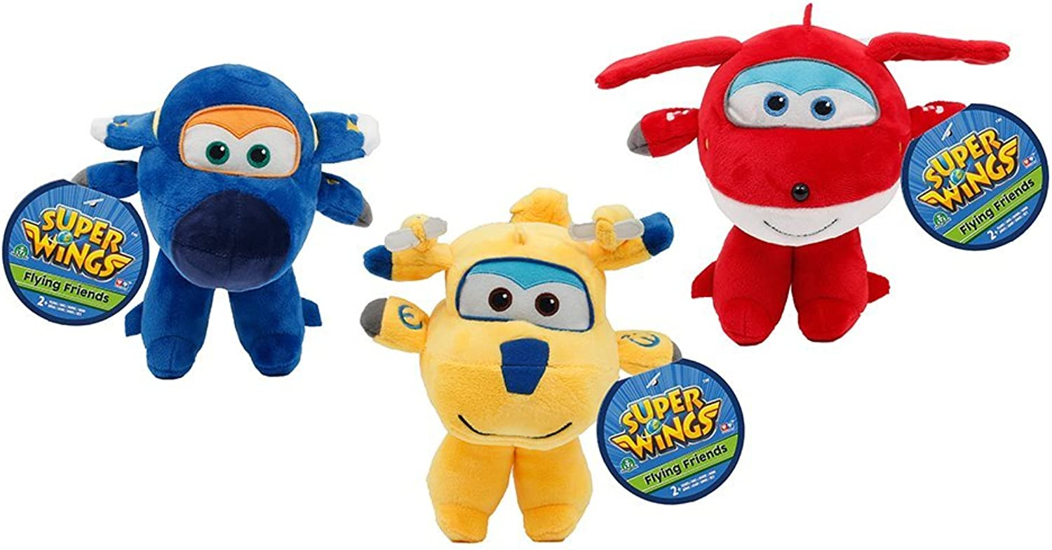 Super Wings 70711111 Plush Aircraft 3 Assorted Colours