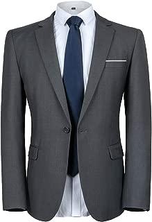 Men's Suit Jacket One Button Slim Fit Sport Coat Casual Blazer Jacket