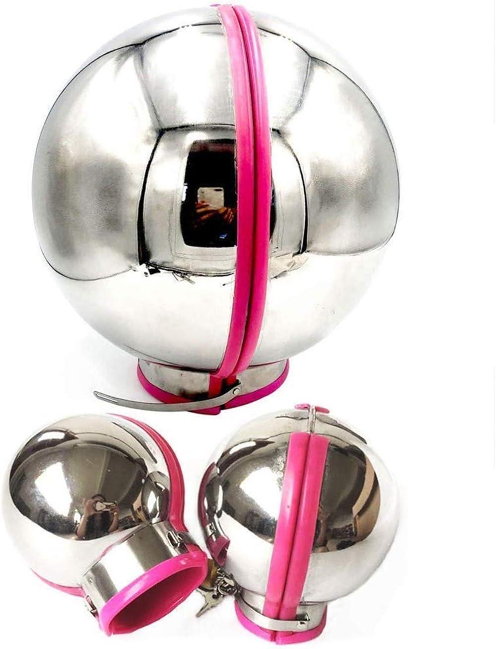 LI ランキング総合1位 yuan ランキング総合1位 Stainless Steel Bondage Metal Ball Helmet+Handcuffs Set
