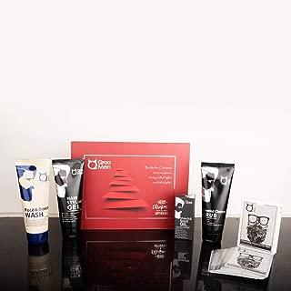 Qraa Men Look Good Kit, 330 g (Pack of Face Wash, Styling Gel, Scrub & Beard Oil), Premium gift box for Men