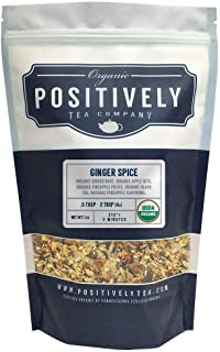 Positively Tea Company, Organic Ginger Spice, Black Tea, Loose Leaf, 16 oz. Bag