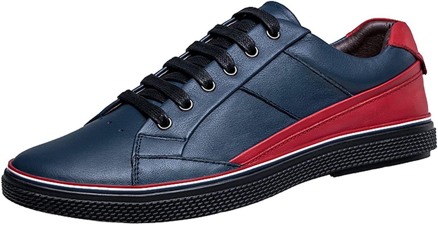 Abby 16531 Mens Classic shoes Casual Leather Lace-up Leisure Smart Athletic Sneakers
