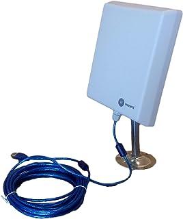 comprar comparacion ANTENA WONECT EXTERIOR 5 METROS PANEL PLANAR 36DBI EXTERNA USB interno N4000 2000MW 2w 5 metros Auditoria. Fácil instalar....